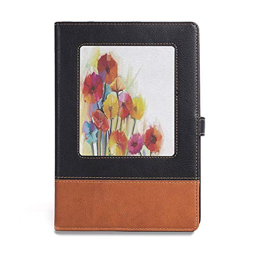 Vintage Writing Notebook Diary,Watercolor Flower Home Decor,A5(6.1