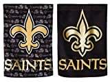 NFL New Orleans Saints Two Sided Glitter Embellished Garden Flag, Medium, Multicolored
