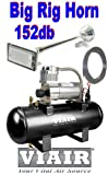 Single Rectangle 152db Trumpet Truck Style Air Horn & VIA...