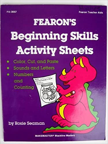 Counting Number worksheets kindergarten cut and paste worksheets free : Fearon's Beginning Skills Worksheets: Rosie Seaman: 9780822430575 ...