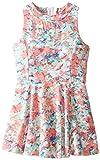 Splendid Little Girls' Abstract Floral Cutout Dress Tod, Print, 2T
