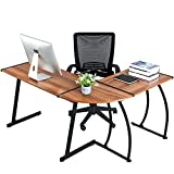 GreenForest L Shaped Corner Desk for Home Office Computer PC Table...