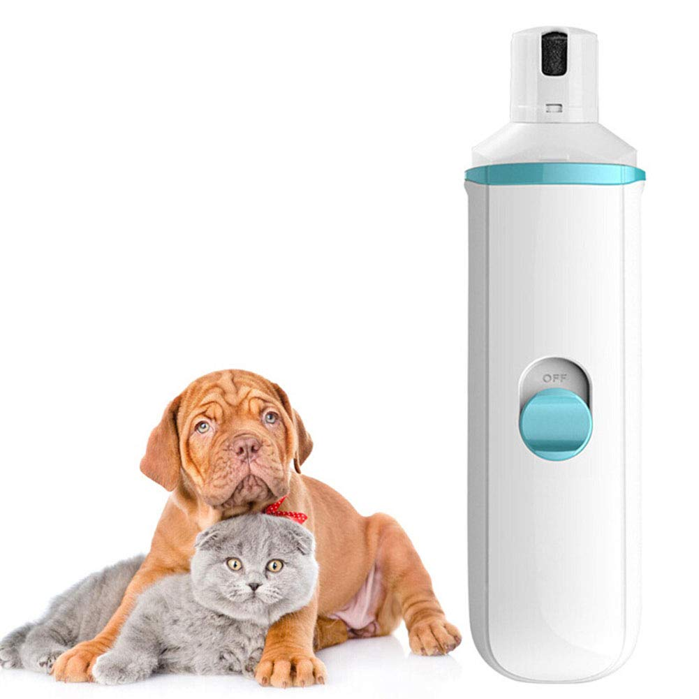 Cacoffay Electric Rechargeable Pet Dog Nail Grinder Low Noise Toenail Grinder for Dogs Cat Nail Clipper Trimmer Painless Paws Grooming for Large, Medium, Small Animals