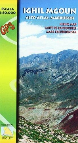 Descargar Libro Ighil Mgoun, Alto Atlas, Marruecos. Escala 1:60.000. Mapa Excursionista. Editorial Piolet. Vv.aa.