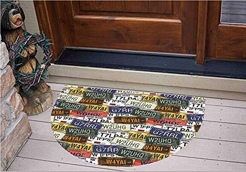 (3D Semicircle Floor Stickers Personalized Floor Wall Sticker Decals,Plates Utah Washington Rhode Island North,Kitchen Bathroom Tile Sticker Living Room Bedroom Kids Room Decor Art Mural D47.2