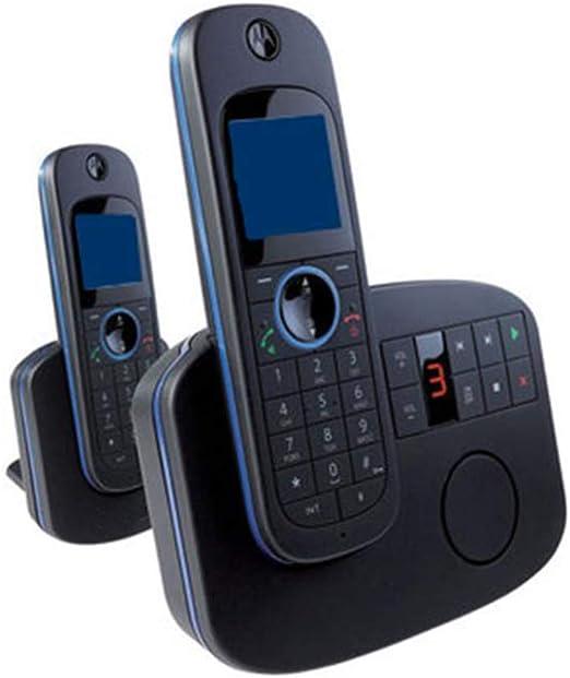 TTBB Teléfono inalámbrico Digital expandible, contestador automático montado en la Pared, teléfono Fijo, Negro, Llamadas Entre Tres, 2.4G: Amazon.es: Hogar