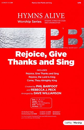 Give Thanks Music Sheet - Rejoice, Give Thanks and Sing SATB