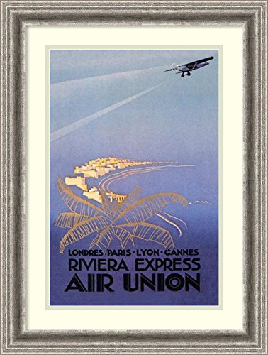 Framed Wall Art Print | Home Wall Decor Art Prints | Riviera Express Air Union by E. Maurus | Casual Decor