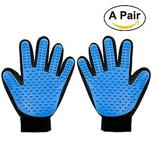 foonii 2pcs gant de massage pour chien toilettage glove gant anti poil pour chat et chien. Black Bedroom Furniture Sets. Home Design Ideas