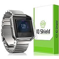 Protector de pantalla Fitbit Blaze, protector de pantalla de cobertura total IQ Shield LiQuidSkin (paquete de 6) para Fitbit Blaze HD Clear Anti-Bubble Film - con