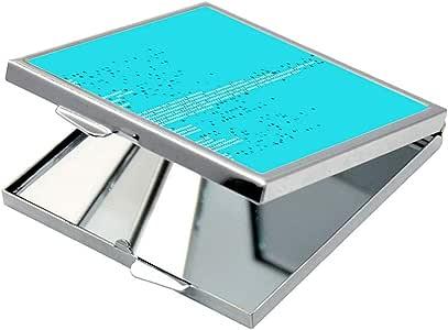 مرآة جيب، بتصميم رسم تجريدي - ابراج دبي ، شكل مربع