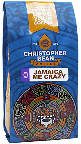 Christopher Bean Coffee Flavored Whole Bean Coffee, Jamaica Me Crazy, 12 Ounce (Color may vary)
