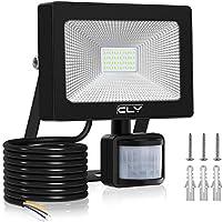 CLY 20W LED Strahler mit Bewegungsmelder,LED Scheinwerfer 2000LM IP66 Wasserdicht, Außenstrahler Superhelle,Kaltes...