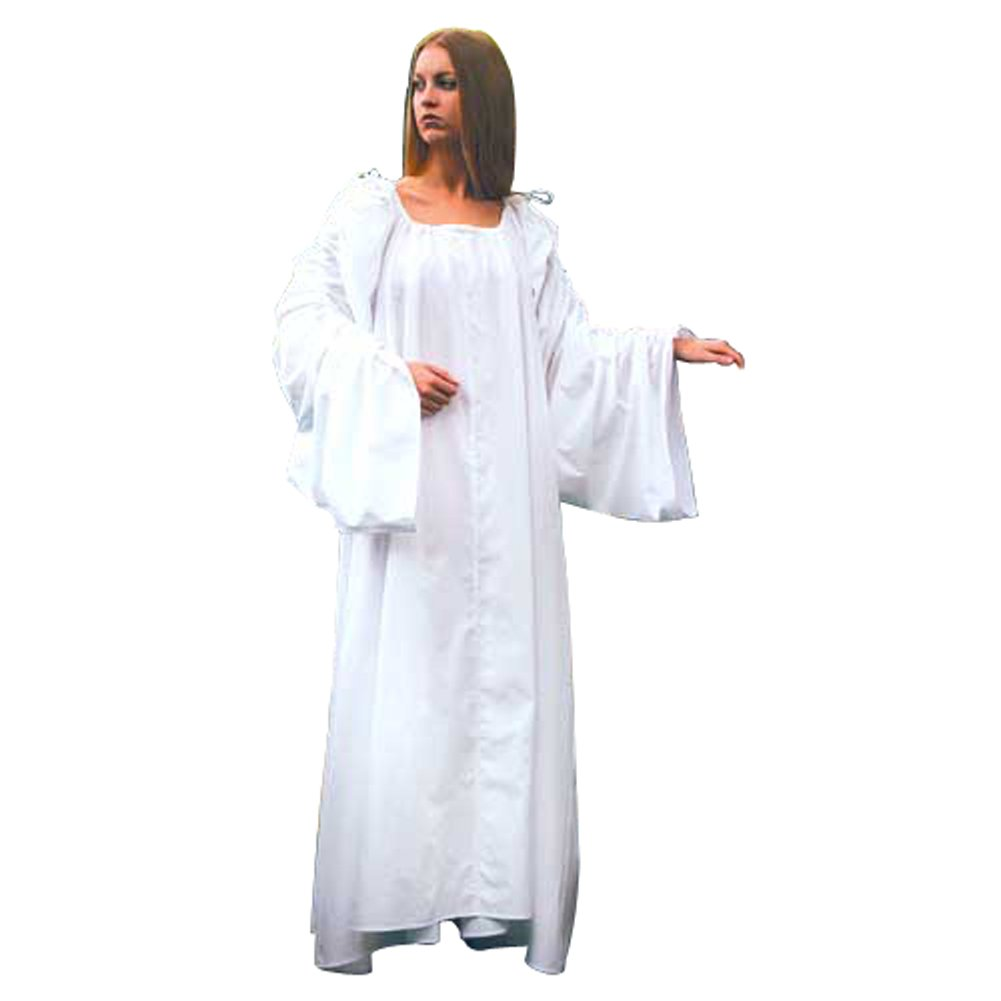 Renaissance Long Celtic White Tied Sleeves Chemise (Large/XL) - DeluxeAdultCostumes.com