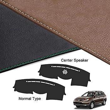 DashMat Original Dashboard Cover Hyundai Veracruz Premium Carpet, Mocha