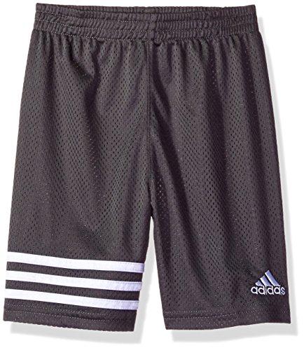 adidas Boys Little Athletic Short, Dark Gry, 7
