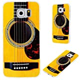 S6 case,Galaxy S6 case,Samsung S6 case, VoMotec [Cute series] Anti-scratch Slim Flexible Soft TPU Protective Skin Cover Case For Samsung Galaxy S6,funny yellow Acoustic guitar
