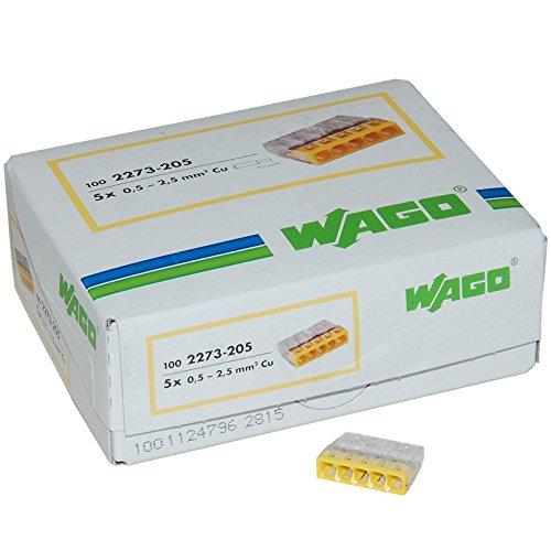 2 opinioni per Wago- Morsetto per scatola di collegamento a 5 vie, sezione da 0,5 a 2,5 mm²,