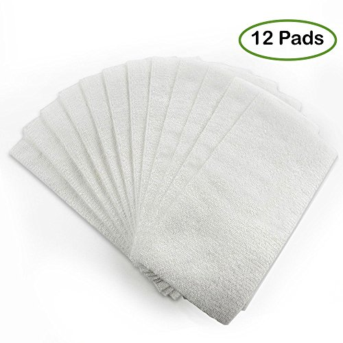 USA Made Disposable Microfiber Mop Refills - Ultra Absorbent Refill Pack for Swiffer WetJet, O-Cedar ProMist, Libman Freedom - Floor Cleaning Pads for Tile / Sealed Wood / Linoleum & More (12 (H2o Wood Finish)
