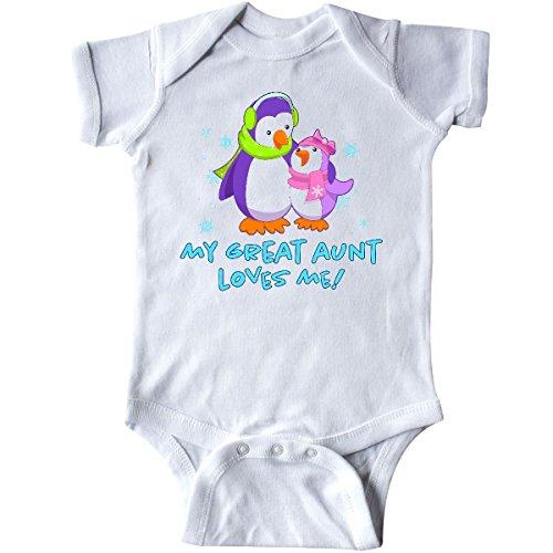 inktastic My Great Aunt Loves Me! Cute Penguins Infant Creeper 6 Months (Penguin Infant Creeper)
