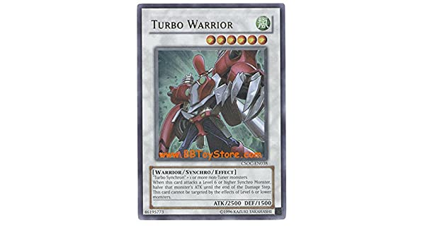 Amazon.com: Yu-Gi-Oh! - Turbo Warrior (CSOC-EN038) - Crossroads of Chaos - Unlimited Edition - Ultra Rare: Toys & Games