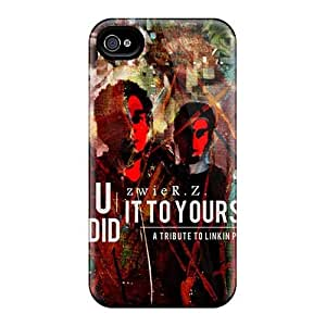 MansourMurray Iphone 4/4s Durable Hard Cell-phone Case Support Personal Customs Beautiful Linkin Park Image [LIQ500GWkh]