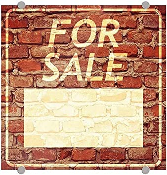 5-Pack CGSignLab for Sale Ghost Aged Brick Premium Brushed Aluminum Sign 16x16