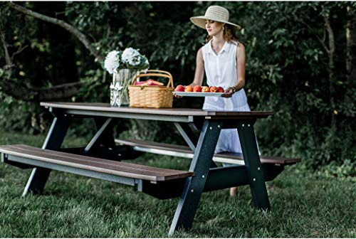 Wildridge Heritage Outdoor Picnic Table w/Legs Attached - Ships in 10-14 Business Days
