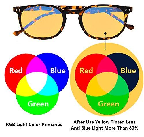 Slim Vintage Computer Readers Reading Glasses Anti Reflective Anti Glare Anti Eyestrain Lens for Digital Screens, UV400 Protection - 0.00x in Tortoise by Eyekepper (Image #2)