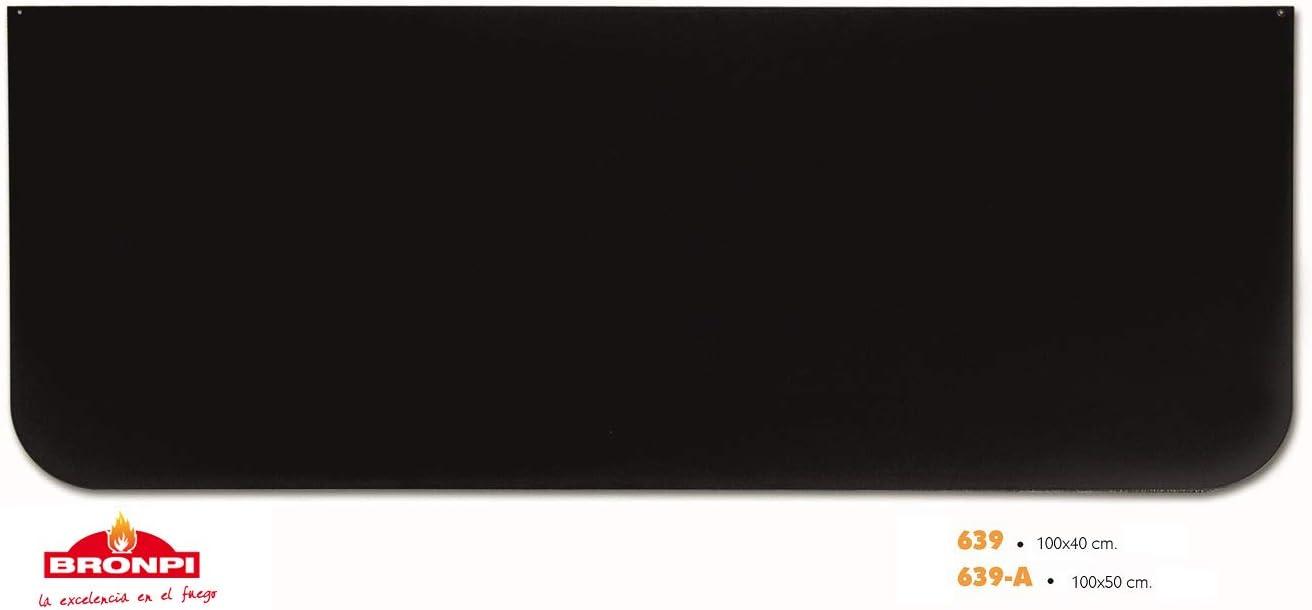 CHAPA DECORATIVA PARA SUELO ESTUFAS Y CHIMENEAS BRONPI (1000 x 400 mm)