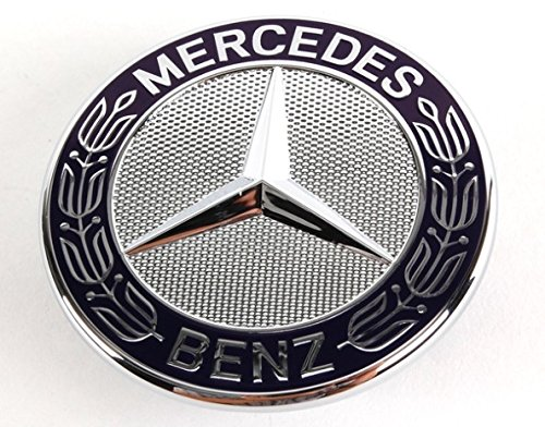 2008-2014 MERCEDES W204 C CLASS FLAT HOOD EMBLEM WITH HOLDER ORIGINAL PART C250