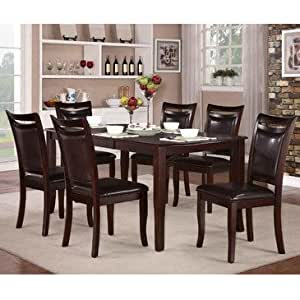 homelegance dining room sets | Amazon.com - Homelegance Maeve 7 Piece Extension Dining ...