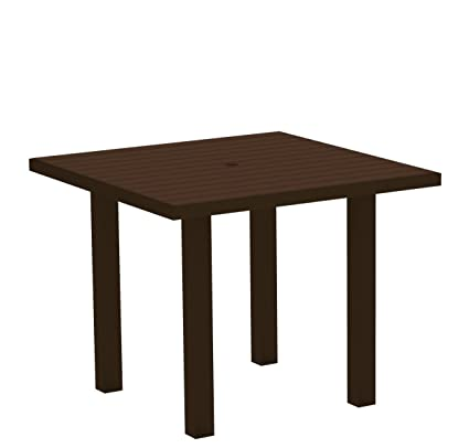 36 inch square dining table brown polywood at3616ma 36inch square dining table euro textured bronze amazoncom euro
