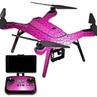 MightySkins Protective Vinyl Skin Decal for 3DR Solo Drone Quadcopter wrap cover sticker skins Pink Diamond Plate