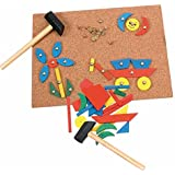 Woodyland 31 x 21 cm Didactic Toys Tap-a-Shape Cork Board