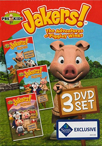 JAKERS : The adventures of piggly winks - PBS Kids 3 DVD box set