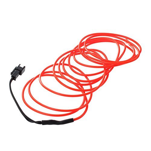 TOOGOO LED Flexible EL Wire Neon Glow Tube Lamp Light DC 12V Inverter for Car, 2M Red by TOOGOO (Image #2)