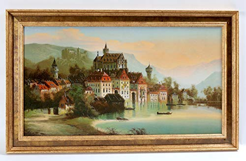 (ZanZour Luxury Antiques Framed Oil Painting Reproductions Stretched Framed Size: 23.25 x14.25)