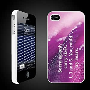 """Mean Girls Movie Themed """"We only carry 1, 3, and 5. You could try Sears""""- White Protective iPhone 4/iPhone 4S Hard Case"""