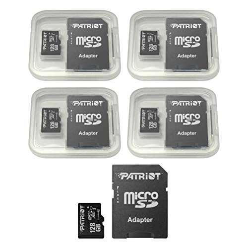Patriot LX Series 128GB Micro SDXC - Class 10 UHS-I - 5 Pack by Patriot