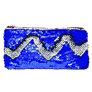 MSGH Sequin Bling Girls Stationery Cosmetic Travel Pouch