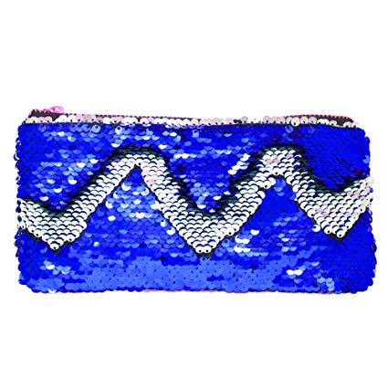 msgh sequin bling girls stationery cosmetic travel pouch  Multi color