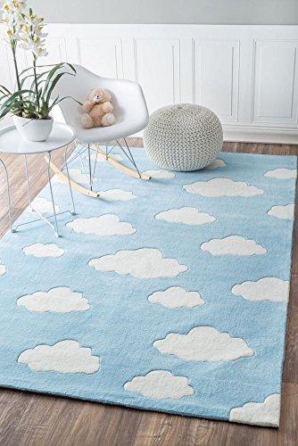 nuLOOM Sachiko Cloudy Kids Rug, 5 x 8 , Blue