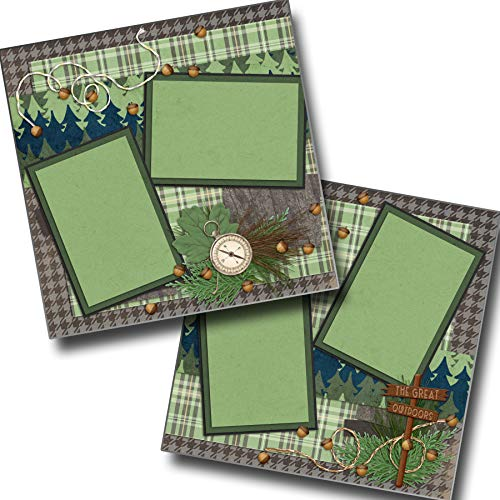 The Great Outdoors - Premade Scrapbook Pages - EZ Layout 2083