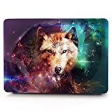 HRH Lone Wolf Pattern Design Laptop Body Shell Protective Rubberized Hard Case for Apple MacBook Air 11 inch 11.6''(Models: A1370 and A1465)