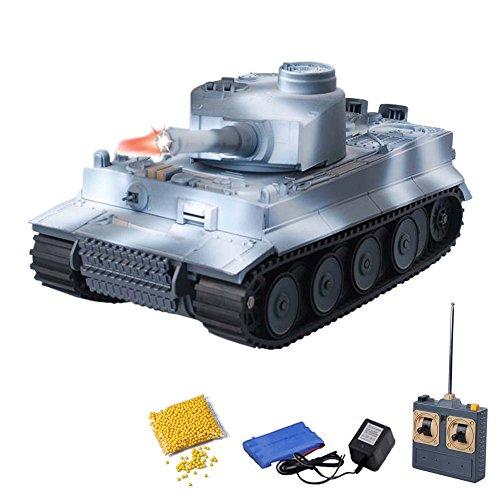 German Tiger I - RC ferngesteuerter 1/18 Panzer mit BB-Airsoft Schussfunktion,Komplett-Set,Munition