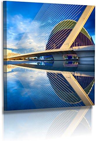 BilligerLuxus - Fotomural XXL de Dirk Haas (Arquitectura, imágenes de España, Valencia, Museo Artes Ciencienciencias), Lona, 20 cm x 20 cm: Amazon.es: Juguetes y juegos