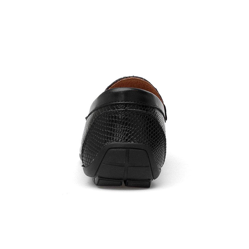 Xujw 2018 schuhe, 2018 Xujw Herren Mokassins Herren Driving Loafer, weiche Mokassins Rhino Haut Textur Slip On Driving Loafer (Farbe : Braun, Größe : 45 EU) Schwarz 426322