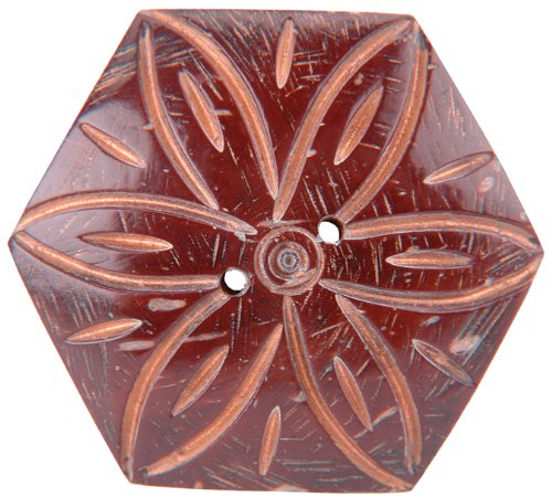 (Vision Trims Handmade Coconut Button-Hexagon)