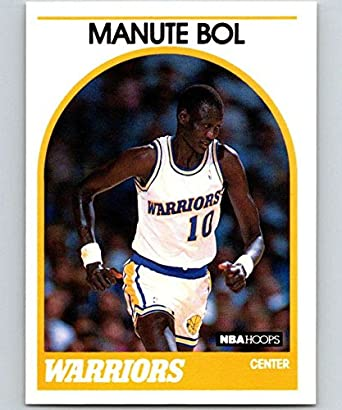 787ab65471f68 1989-90 Hoops Basketball #75 Manute Bol Golden State Warriors Official NBA  Trading Card